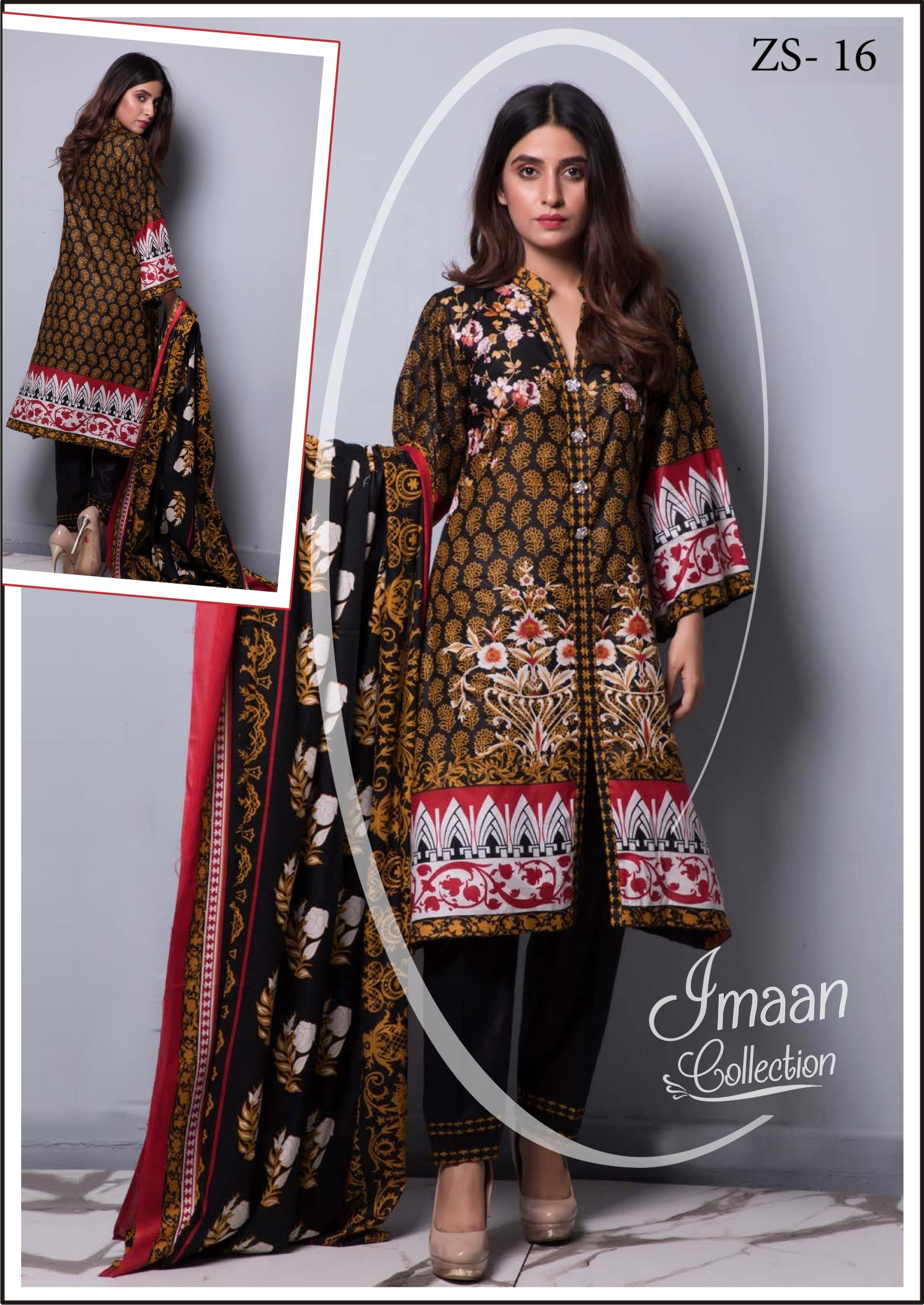 3683b381a1 RANGREZA Printed Summer Collection By ZS Textile Vol-4. 2019 – Imaan  Collection