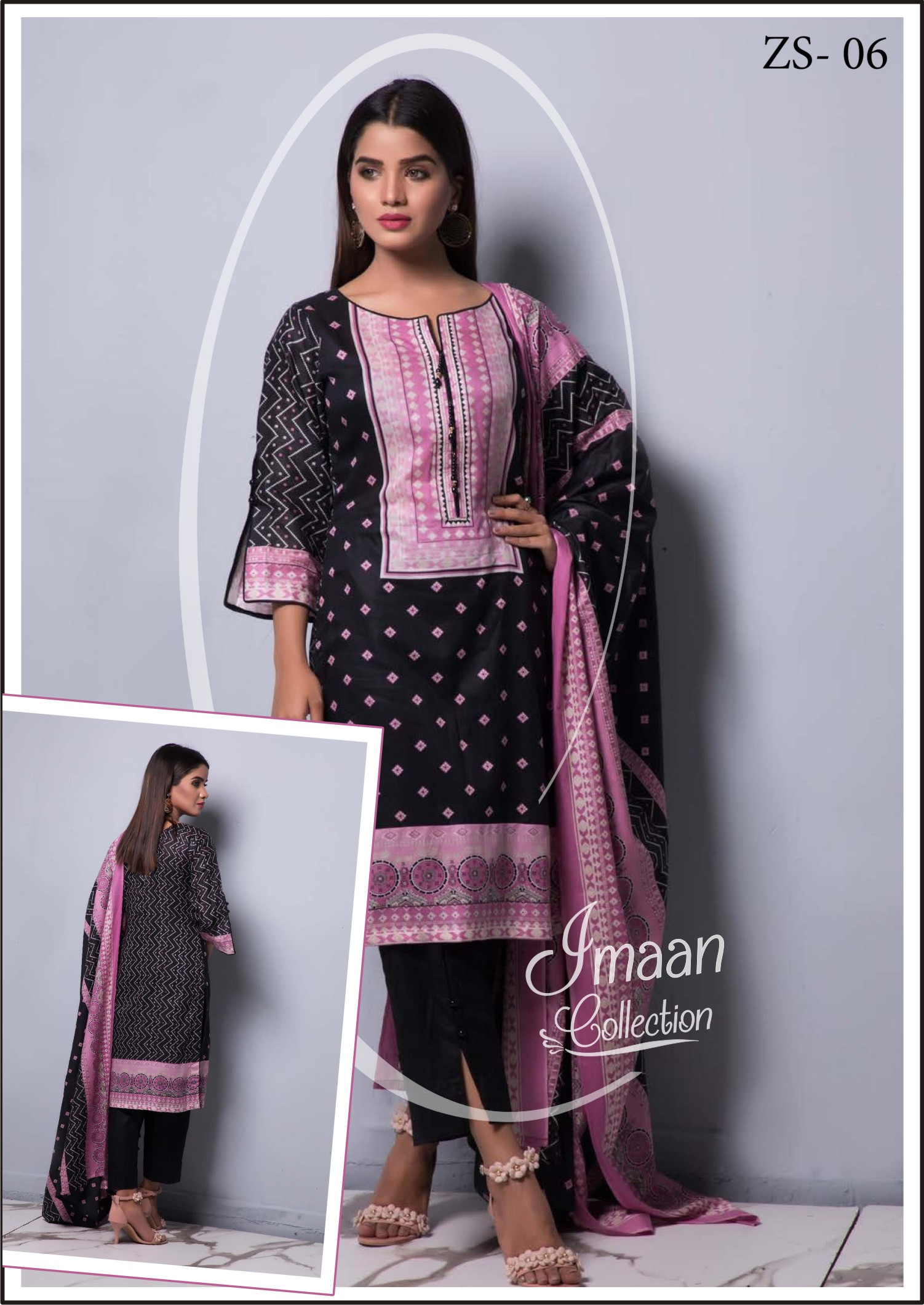 1a755d8e46 RANGREZA Printed Summer Collection By ZS Textile Vol-4. 2019 – Imaan  Collection